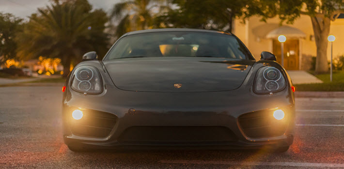 Porsche Cayman on Road