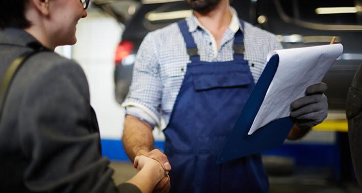 Handshake with Auto Mechanic