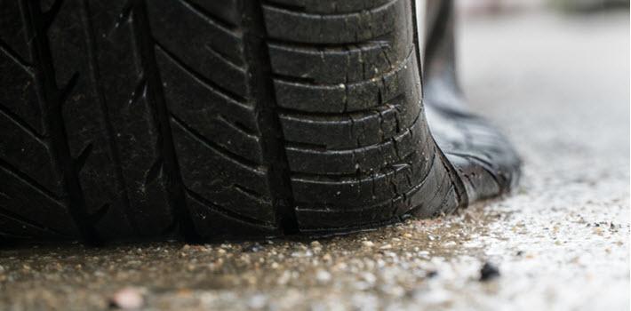 BMW Flat Tire
